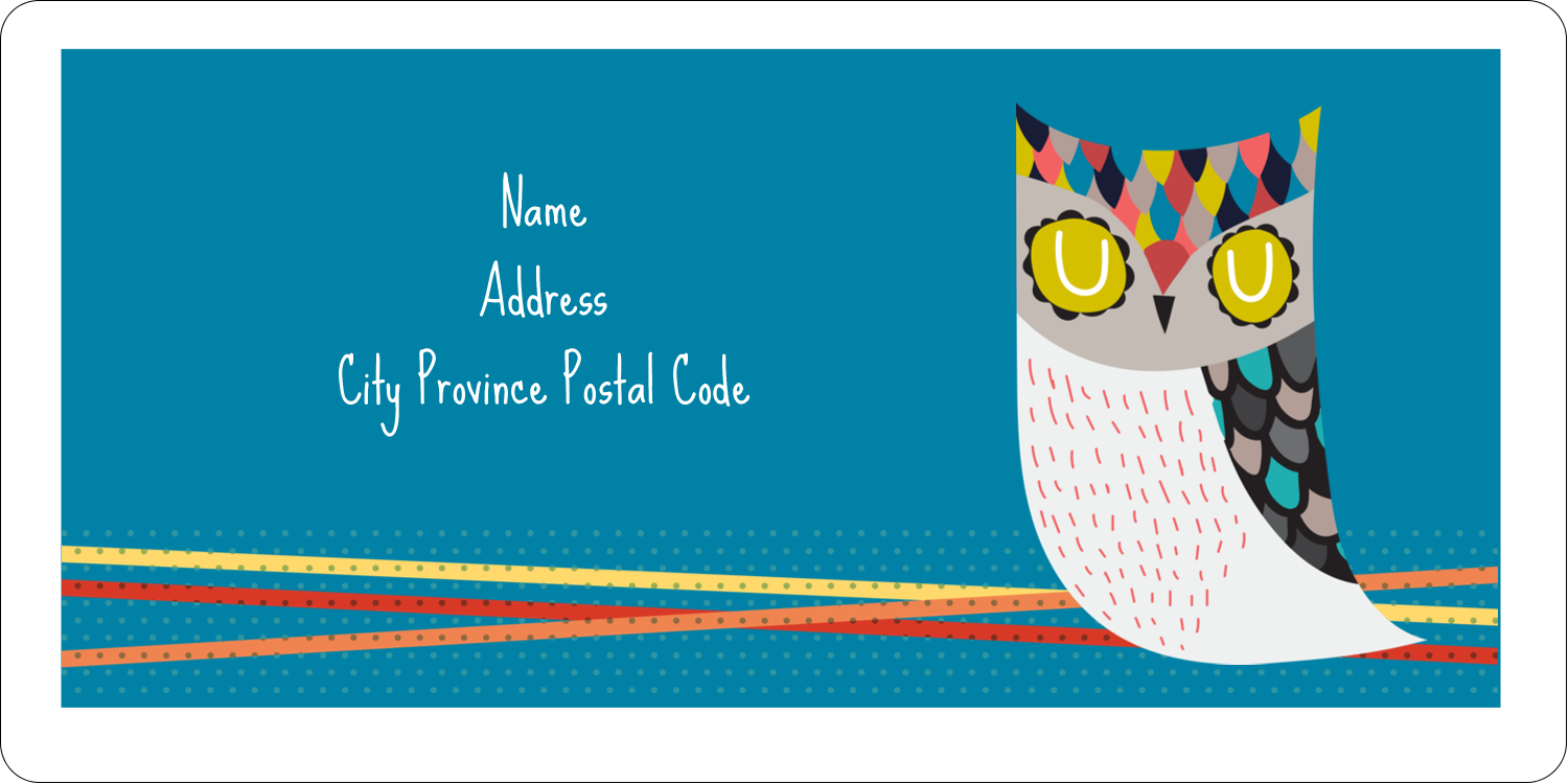 "2"" x 4"" Shipping Label - Artful Owl"