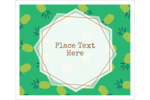 Give custom projects a tropical feel with pre-designed Conversational Pineapple templates.