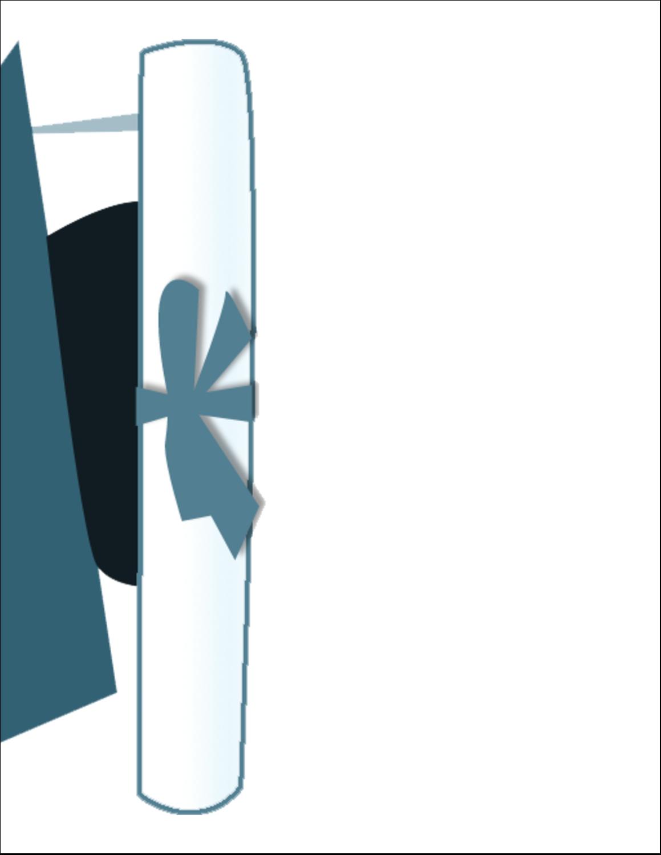 "8½"" x 11"" Sticker Project Paper - Blue Graduation"