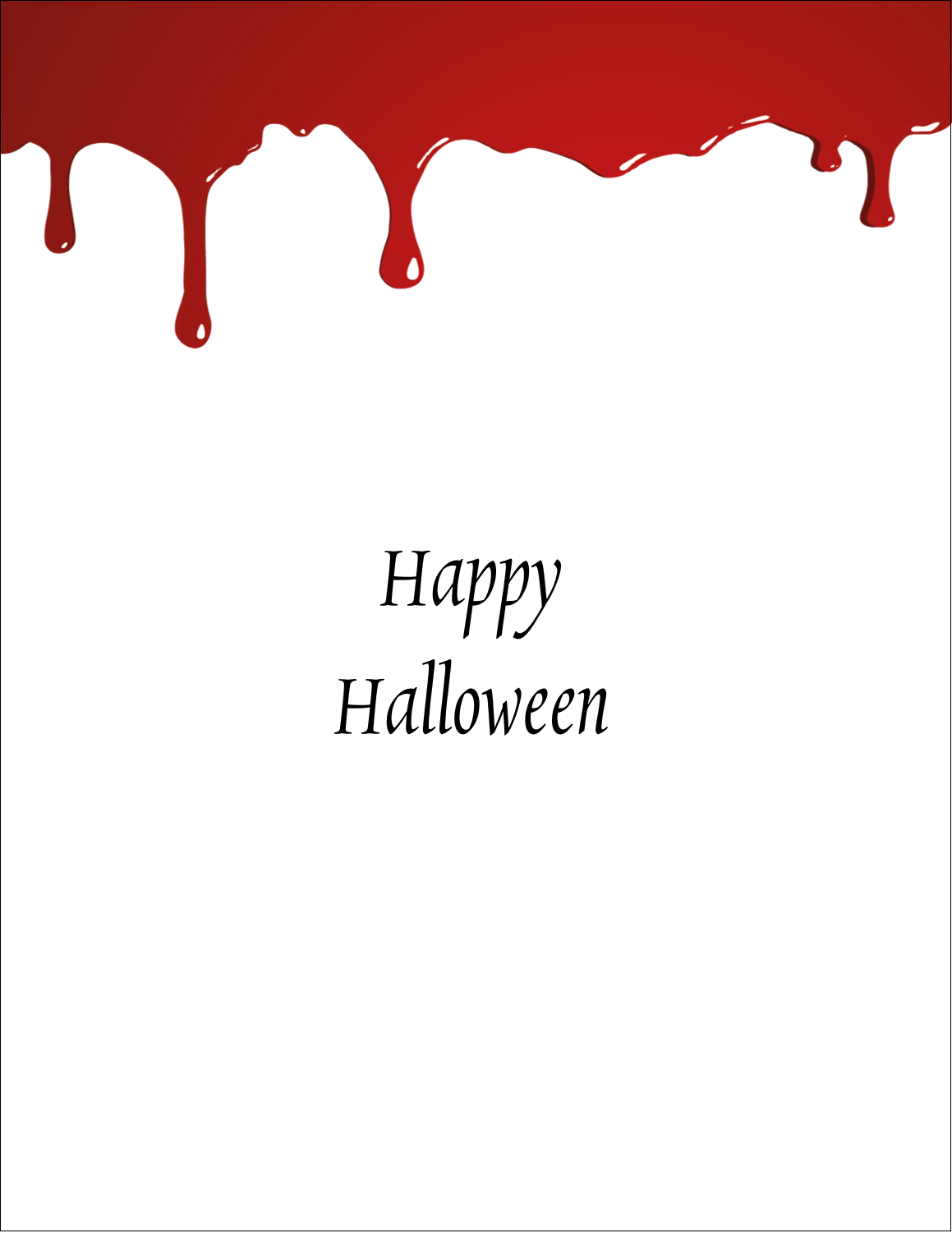 "8½"" x 11"" Sticker Project Paper - Bloody Halloween"