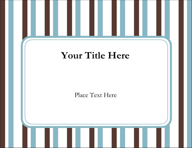 """11"""" x 8½"""" ID Label - Blue Stripes"""