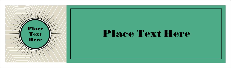"2½"" x 8½"" Tent Card - Burst Green"