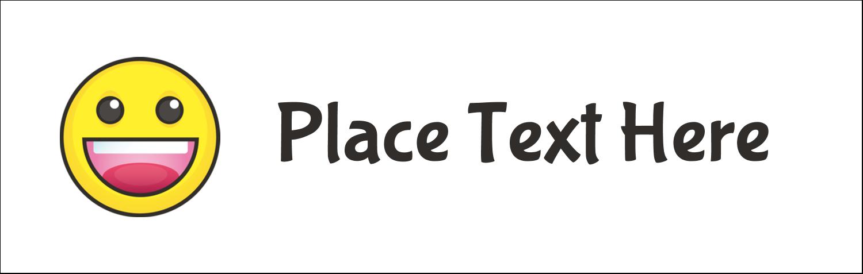 """3½"""" x 11"""" Tent Card - Emoji Faces"""
