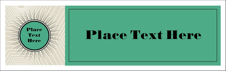 "3½"" x 11"" Tent Card - Burst Green"