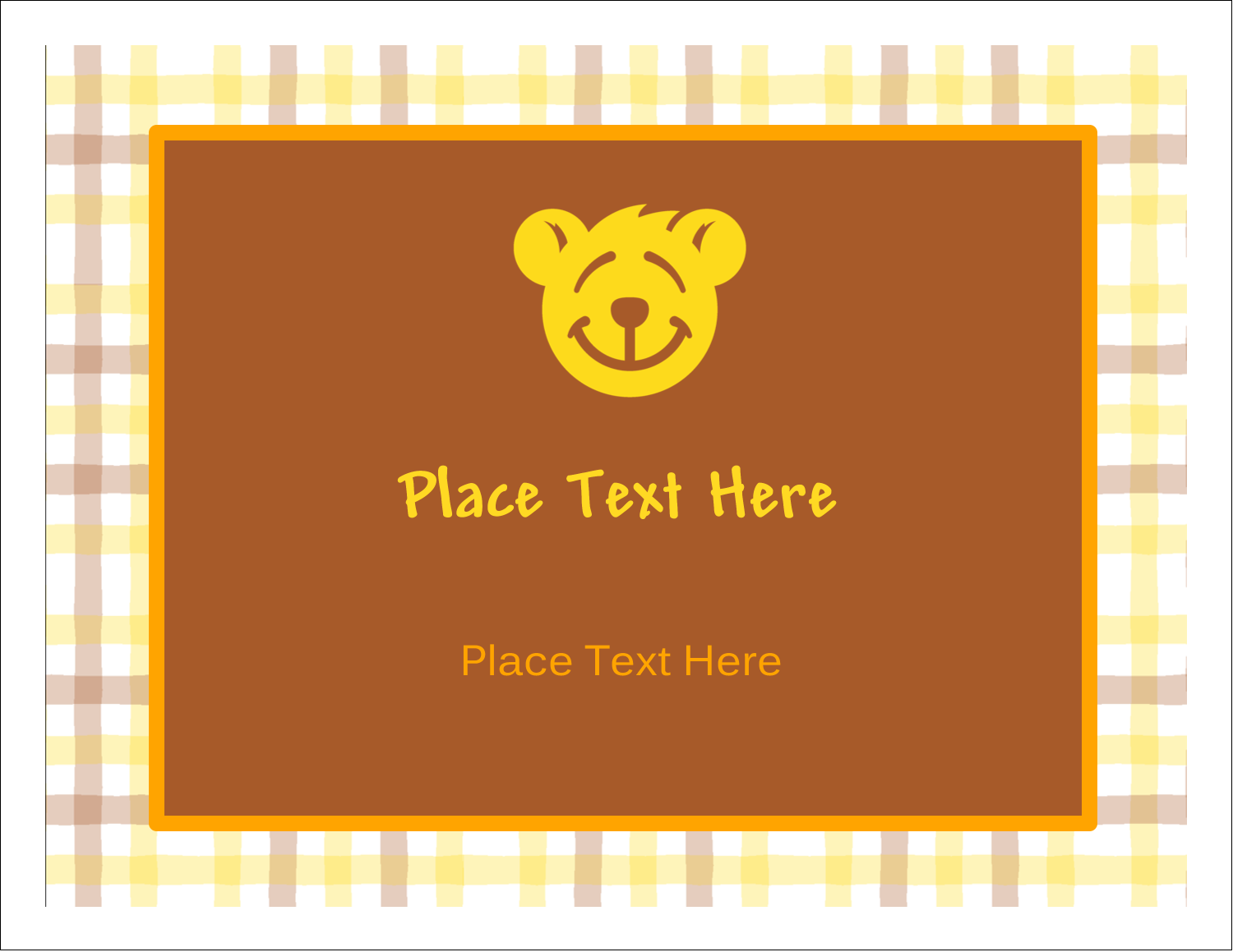 "5½"" x 4¼"" Note Card - Bear Yellow"