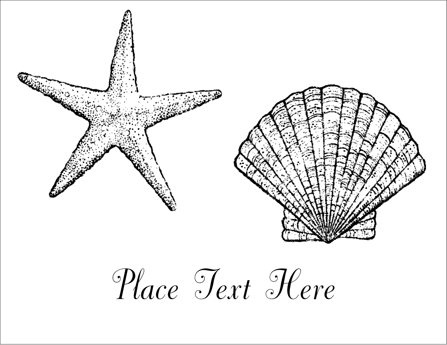 "5½"" x 4¼"" Note Card - Beach"