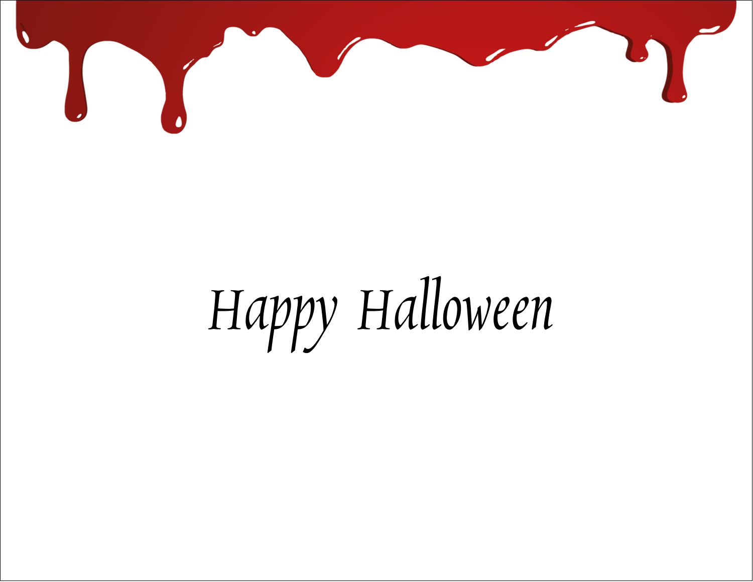 "5½"" x 4¼"" Note Card - Bloody Halloween"