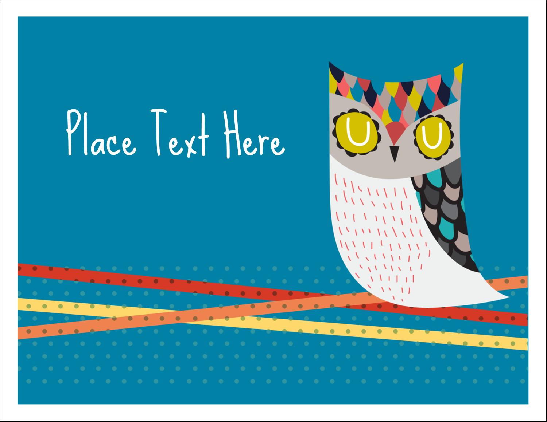 "5½"" x 4¼"" Note Card - Artful Owl"
