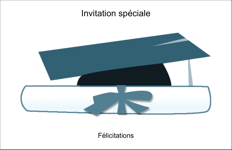 """5½"""" x 8½"""" Cartes de souhaits pliées en deux - Remise des diplômes en bleu"""