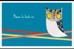 Hibou rusé Cartes Et Articles D'Artisanat Imprimables - gabarit prédéfini. <br/>Utilisez notre logiciel Avery Design & Print Online pour personnaliser facilement la conception.