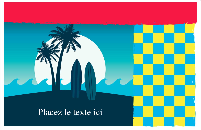 """8½"""" x 11"""" Cartes Et Articles D'Artisanat Imprimables - Surf tropical"""