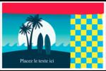 Surf tropical Cartes Et Articles D'Artisanat Imprimables - gabarit prédéfini. <br/>Utilisez notre logiciel Avery Design & Print Online pour personnaliser facilement la conception.
