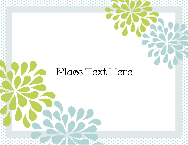 "5½"" x 4¼"" Postcard - Blue Green Blooms"