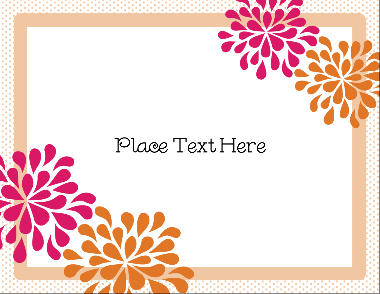 "5½"" x 4¼"" Postcard - Bridal Shower Pink Orange"