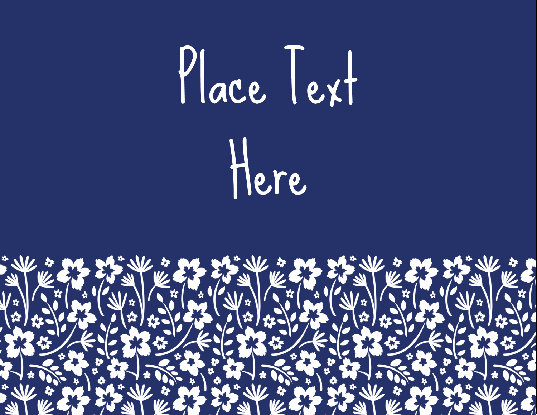 "5½"" x 4¼"" Postcard - Small Floral Blue"