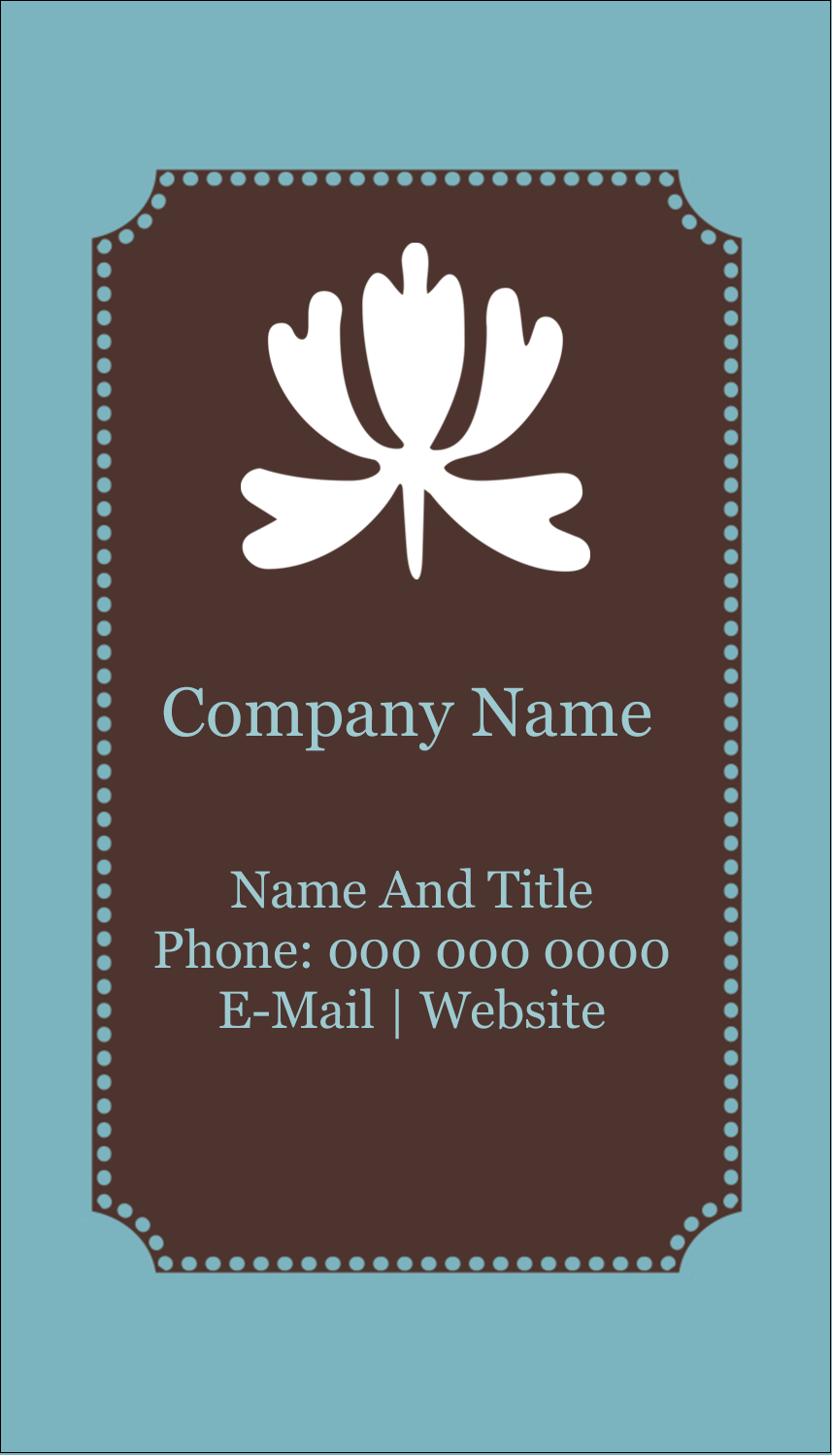 "3½"" x 2"" Business Card - Blue Brown Border"