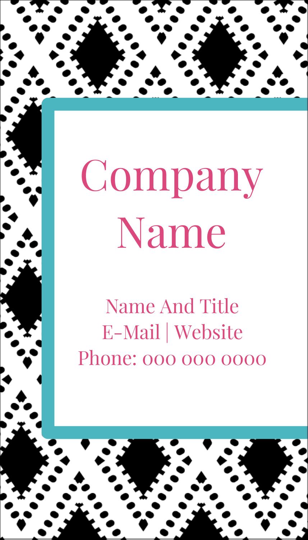 "3½"" x 2"" Business Card - Decorative Damask"