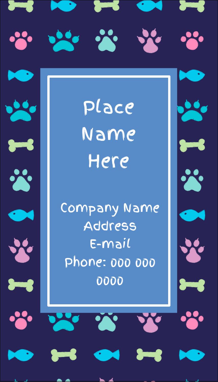 "3½"" x 2"" Business Card - Furry Friends"