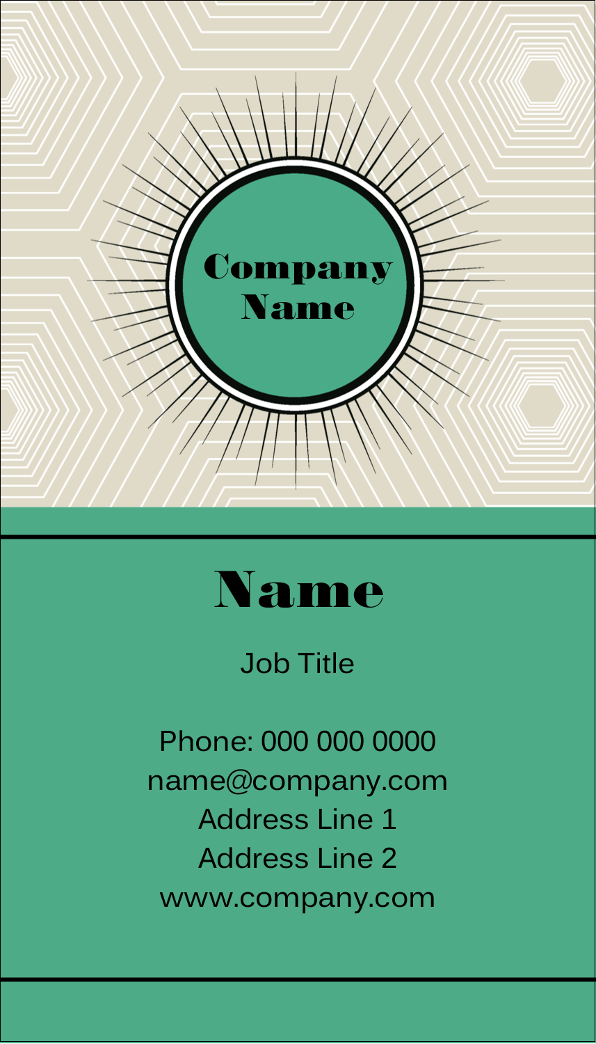 "3½"" x 2"" Business Card - Burst Green"