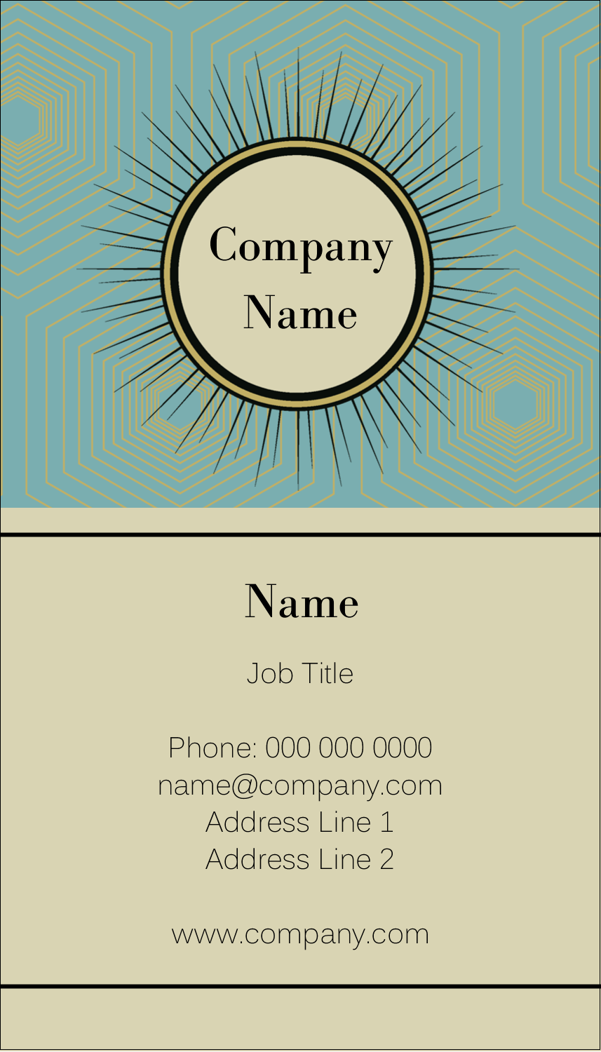 "3½"" x 2"" Business Card - Burst Tan"