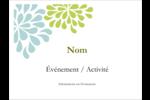 Fleurs bleues et vertes Badges - gabarit prédéfini. <br/>Utilisez notre logiciel Avery Design & Print Online pour personnaliser facilement la conception.