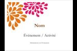 Fête prénuptiale en rose et orange Badges - gabarit prédéfini. <br/>Utilisez notre logiciel Avery Design & Print Online pour personnaliser facilement la conception.