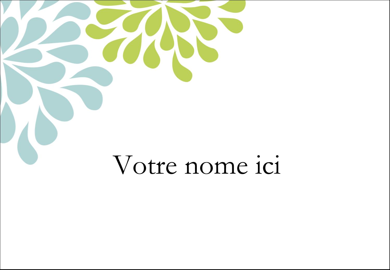 """1¼"""" Étiquettes à codage couleur - Fleurs bleues et vertes"""