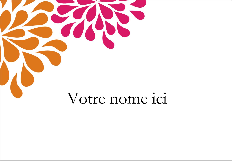 """1¼"""" Étiquettes à codage couleur - Fête prénuptiale en rose et orange"""