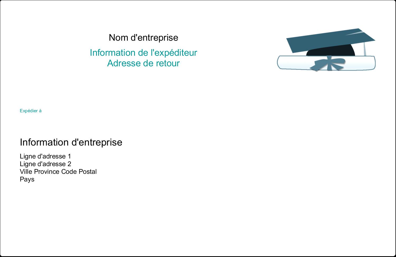 """8½"""" x 5½"""" Étiquettes d'expédition - Remise des diplômes en bleu"""