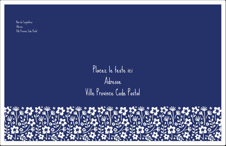 """1½"""" x 4"""" Étiquettes d'adresse - Petit bouquet bleu"""