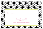 Damas décoratif Étiquettes d'adresse - gabarit prédéfini. <br/>Utilisez notre logiciel Avery Design & Print Online pour personnaliser facilement la conception.