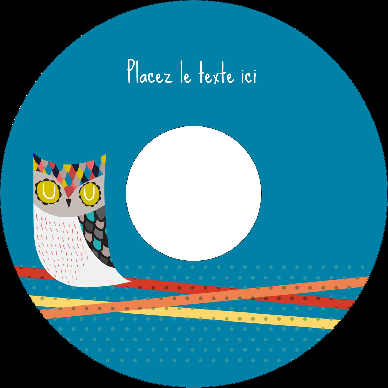 """⅔"""" x 3-7/16"""" Étiquettes de classement - Hibou rusé"""