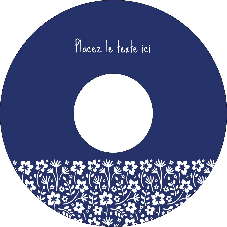 """⅔"""" x 3-7/16"""" Étiquettes de classement - Petit bouquet bleu"""