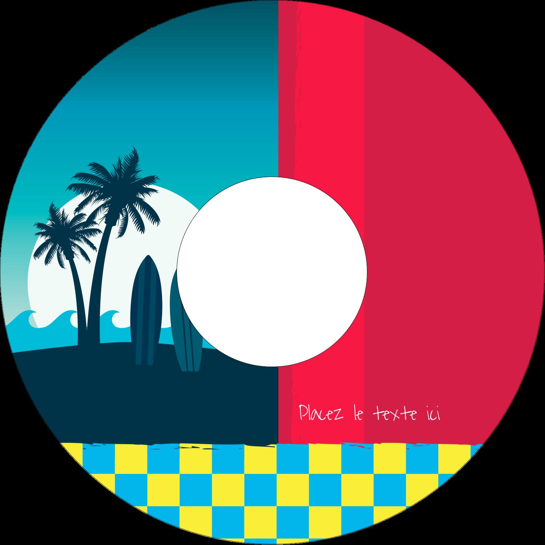 """⅔"""" x 3-7/16"""" Étiquettes de classement - Surf tropical"""