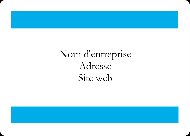 """2⅝"""" x 2"""" Étiquettes D'Identification - Barre bleue"""