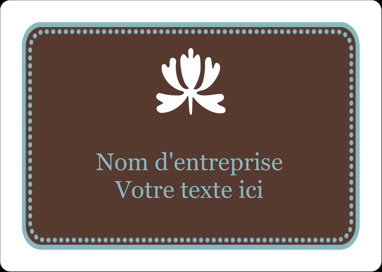 """2⅝"""" x 2"""" Étiquettes D'Identification - Bordure en brun et bleu"""