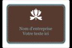 Bordure en brun et bleu Étiquettes D'Identification - gabarit prédéfini. <br/>Utilisez notre logiciel Avery Design & Print Online pour personnaliser facilement la conception.