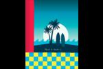 Surf tropical Reliures - gabarit prédéfini. <br/>Utilisez notre logiciel Avery Design & Print Online pour personnaliser facilement la conception.