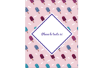 Popsicle familier Reliures - gabarit prédéfini. <br/>Utilisez notre logiciel Avery Design & Print Online pour personnaliser facilement la conception.