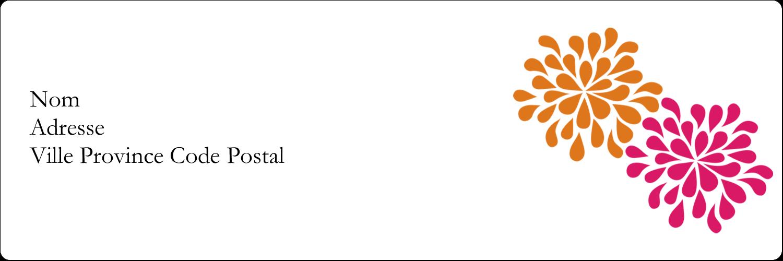"""4"""" x 2"""" Étiquettes d'expéditions - Fête prénuptiale en rose et orange"""