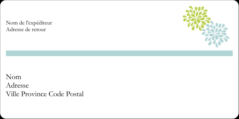 """3-7/16"""" x ⅔"""" Étiquettes Polyvalentes - Fleurs bleues et vertes"""