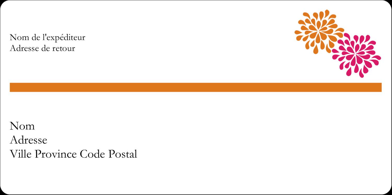 """3-7/16"""" x ⅔"""" Étiquettes Polyvalentes - Fête prénuptiale en rose et orange"""