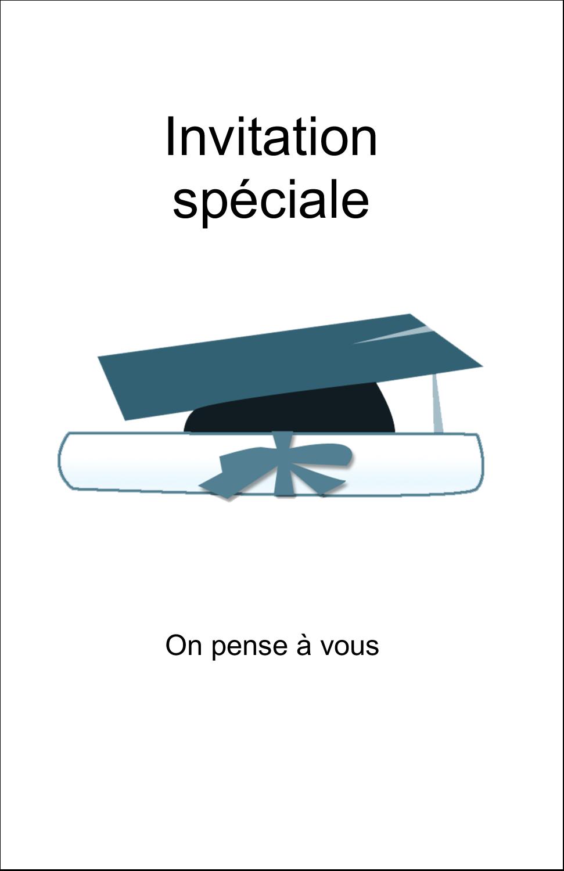 """8½"""" x 5"""" Cartes Et Articles D'Artisanat Imprimables - Remise des diplômes en bleu"""