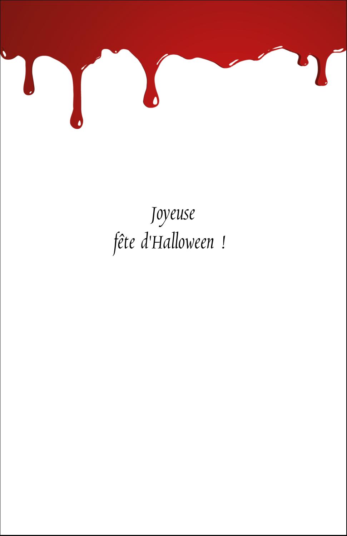 """8½"""" x 11"""" Binder Insert Reliures - Halloween sanglante"""