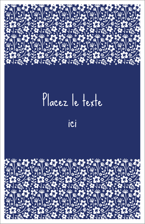 "8½"" x 11"" Binder Insert Reliures - Petit bouquet bleu"