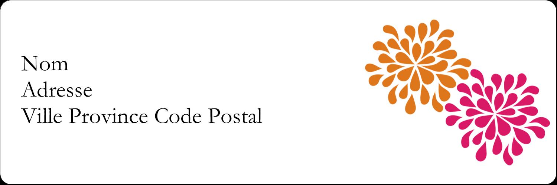 """3"""" x 2"""" Étiquettes Polyvalentes - Fête prénuptiale en rose et orange"""