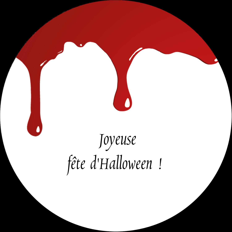 """2¼"""" x ¾"""" Étiquettes Voyantes - Halloween sanglante"""