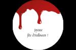 Halloween sanglante Étiquettes Voyantes - gabarit prédéfini. <br/>Utilisez notre logiciel Avery Design & Print Online pour personnaliser facilement la conception.