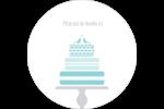 Figurines d'oiseau bleu pour gâteau de noces Étiquettes Voyantes - gabarit prédéfini. <br/>Utilisez notre logiciel Avery Design & Print Online pour personnaliser facilement la conception.