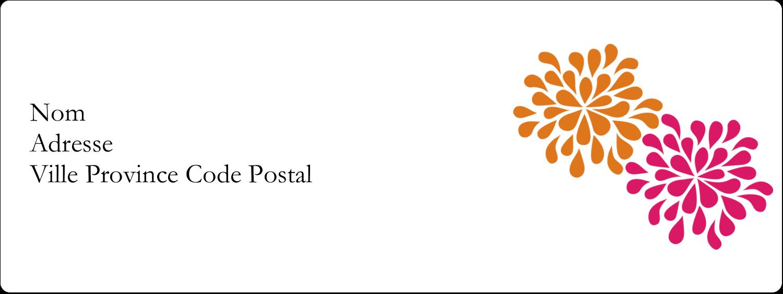 """1"""" x 2⅝"""" Étiquettes d'adresse - Fête prénuptiale en rose et orange"""